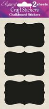 Chalkboard Stickers - Choice of Shape - Vintage Craft Label Decorative Tag