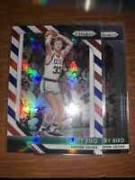 Larry Bird 6 Basketball Card Lot w/ 2018-19 Panini Prizm Prizms Red White & Blue