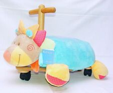 Nattou Ride-On COLORFULL BEAR Early Learning Kids Toy Wood + Plush NEW!