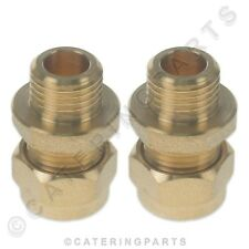 "PACK OF 2 x BRASS 10mm COMPRESSION to 1/4"" INCH BSP MALE FITTING PIPE ADAPTER"