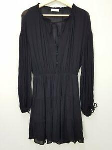 KOOKAI Womens Size EUR 36 or AU 8 / US 4 Black Long Sleeves Dress