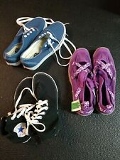 Lot of 3 Pairs of Womens Shoes size 5-7 Vans, Converse, Lands End