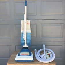 Vintage Hoover Convertible Vacuum Cleaner - Blue Model U4349 - w Accessories USA