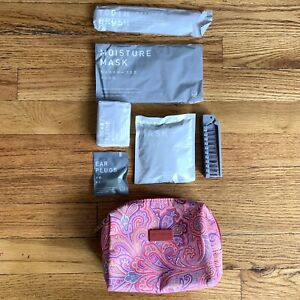 Etro Profumi Pink Paisley Floral Toiletry Pouch Travel Bag Cosmetics With Extras