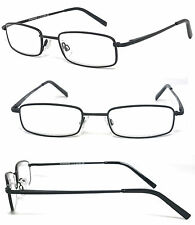 Man Woman Metal Frame Clear Lens Reading Vision Glasses - Various Color RE88