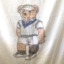 Vtg Ralph Lauren Beach Towel Tennis Sport Bear 35X70