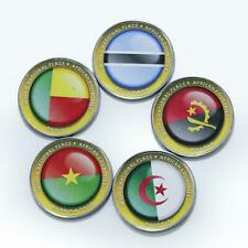 Bougainville Island 1 dollar Set of 5 coins African Countries Flags 2017