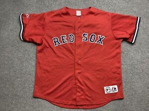Vintage Boston Red Sox Baseball Jersey Mens Extra Large # 5 Garciaparra Majestic