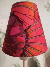 Handmade Candle Clip Lampshade Kaffe Fassett Lotus Leaf Wine Red fabric