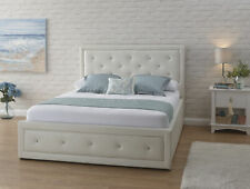 GFW Hollywood Gas Lift Standard Double Storage Bed - White