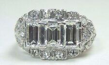 Art Deco Antique Diamond Engagement Ring Platinum Ring Size 6 UK-L1/2 EGL USA