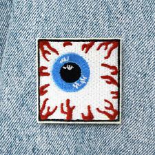 DIY Square Eyeball Embroidery Sew On Iron On Patch Badge Fabric Applique Craft