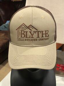 Blythe Building Company SC Homes Stitch Trucker Brown Port Authority Hat Cap #C