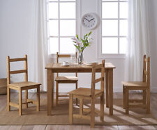 Corona Solid Pine Wood Dining Table and 2 /4 Chairs Set Kitchen Garden Furniture