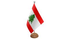 LIBANO PICCOLO DA TAVOLO BANDIERA CON di legno supporto