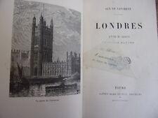 LONDRES scènes et croquis d'après nature Guy de Laforest 1883