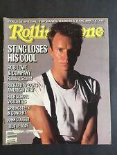 Rolling Stone Magazine September 26 1985   Sting
