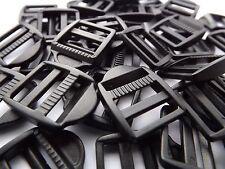 10 X 15 Mm De Plástico Negro ladderlock diapositiva cierre de hebilla
