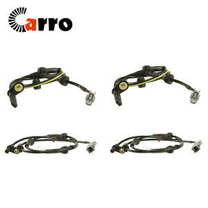 Set of 4 New ABS Wheel Speed Sensor Brake Front + Rear For Nissan Rogue 08-13