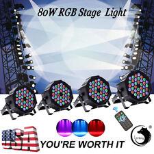 U`king 4PCS 80W RGB 36LED Par Stage Lighting DMX Color Mixing Wedding Light Club