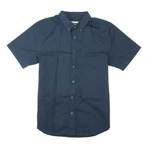 Nixon Mens Sisters Button Up S/S Shirt Navy M New
