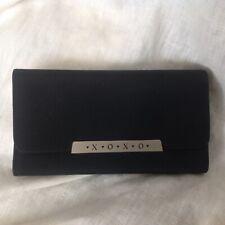 XOXO Women Black Wallet Trifold Long Card Holder Phone Bag Case Purse