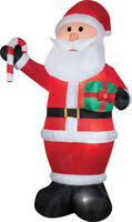 CHRISTMAS SANTA CANDY CANE & GIFT 12 FT TALL  AIRBLOWN INFLATABLE YARD