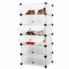Mobiletto modulare rettangolare guardaroba/scarpiera 6 scomparti Bianco LPC06W