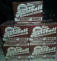 (12) 1990 Topps Baseball Traded Set Lot - Justice RC - Cincinnati Reds WS Champ