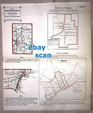 1924 RADIO STATION MAP Sandusky Toledo Lima OH Kalamazoo Ann Arbor Detroit MI