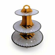 3-Tier Construction Zone Round Cardboard Cupcake Stand Birthday Party Decoration