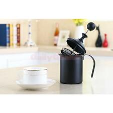 1PC Cappuccino Milk Bubble Pot Fine Mesh Hand Pump Foamer Milk Frother 800cc