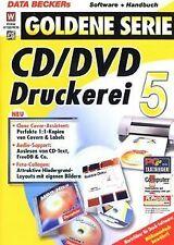 CD-DVD-Druckerei 5 von Data Becker | Software | Zustand gut