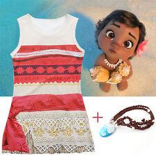 niña infantil Disney MOANA princesa disfraz vestido sin mangas Trajes