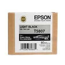 Inchiostro nero Epson Light T5807 per Epson Stylus Pro 3800 3880 2014 Genuine/originale
