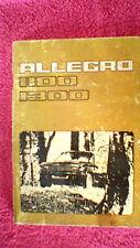 Owners Handbook - Austin Allegro 1100 & 1300
