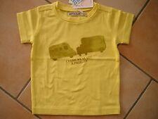 (78) Süßes Imps & Elfs unisex Baby T-Shirt mit Auto Druck & Logo Aufnäher gr.74