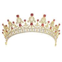 Bridal Crystal Tiara Crowns Princess Queen Pageant Prom Tiara Headband FG