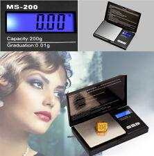 200g/0,01g MS-B Feinwaage Goldwaage Digital-waage Taschenwaage