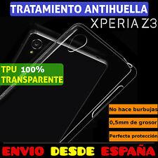 FUNDA TPU DE GEL SILICONA 100% TRANSPARENTE PARA SONY XPERIA Z3 CARCASA PLASTICO