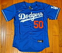NEW! Los Angeles Dodgers #50 Mookie Betts Blue Jersey Mens Medium - 40