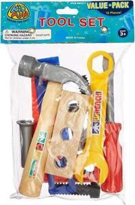 US Toy Tool Set - Construction Handyman Pretend Playset (12 Pieces)