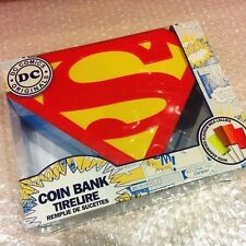 DC Comics Originals Superhero SUPERMAN Money Box Coin Piggy Bank Gift Set NEW