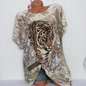 Damen T-Shirt Bluse Top Tunika Glitzer XL/XXL 46 48 50