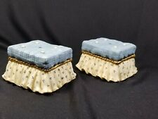 2 Vtg 1997 Patricia Hillman/Enesco Ottomans for Displaying Figurines, New/Mint