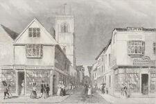 c1850 Five Antique Prints - SUFFOLK - Ipswich, Stratford, Bury St. Edmunds
