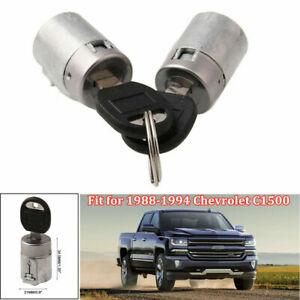 Pair Door Lock Cylinder kit w/Keys For 88-94 Chevrolet C1500 K1500 Tahoe Yukon