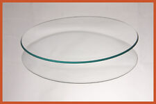 """7"""" Round Clear """"BENT"""" Glass Plate  1/8"""
