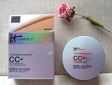 IT Cosmetics CC+ COLOR CORRECTING FULL COVERAGE CREAM COMPACT in MEDIUM ~ FS!!