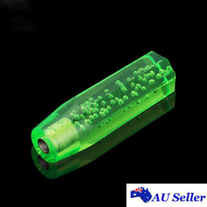 15cm Octagon Acrylic Crystal Air Bubble Manual Shift Knob Gear Shifter Green 6''